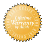 Lifetime warranty by alside